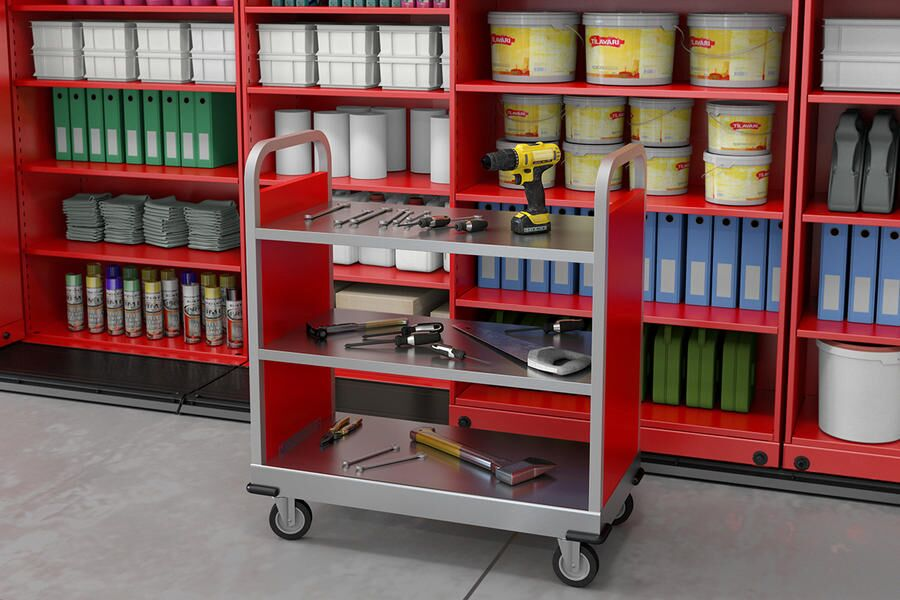 Mobile Cart for books and files